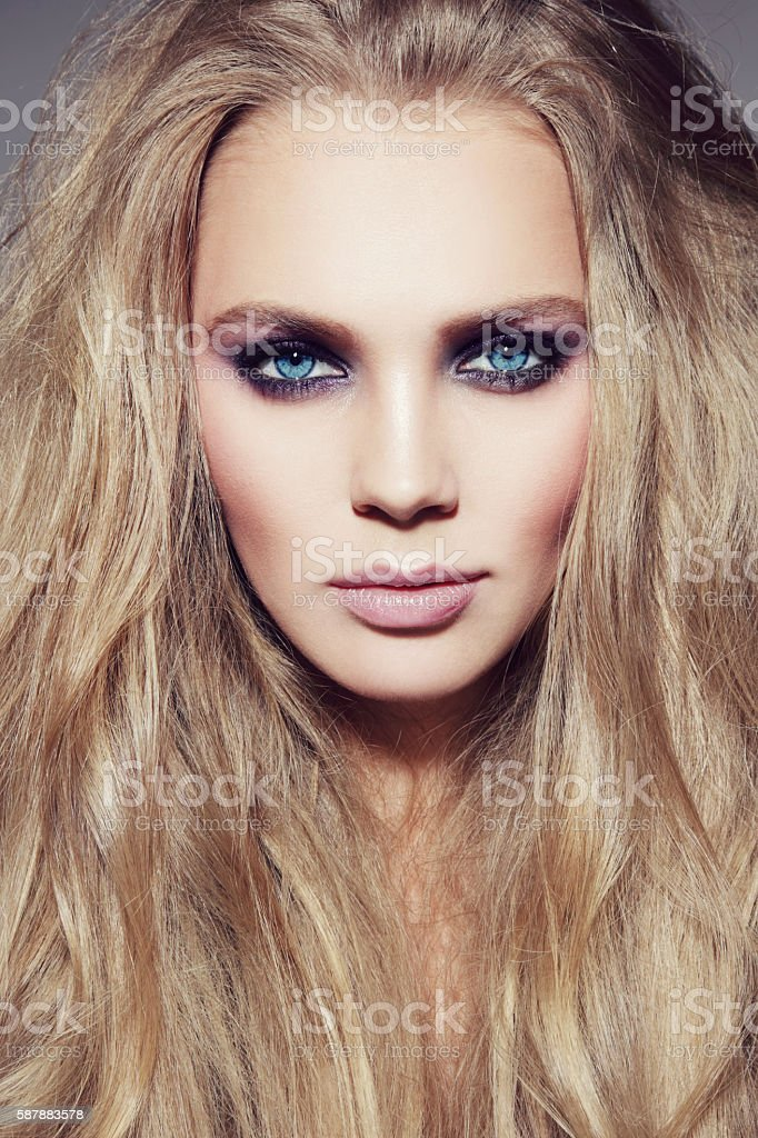 Beauty with long hair stock photo