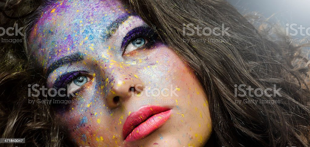 beauty with makeup royalty-free stock photo