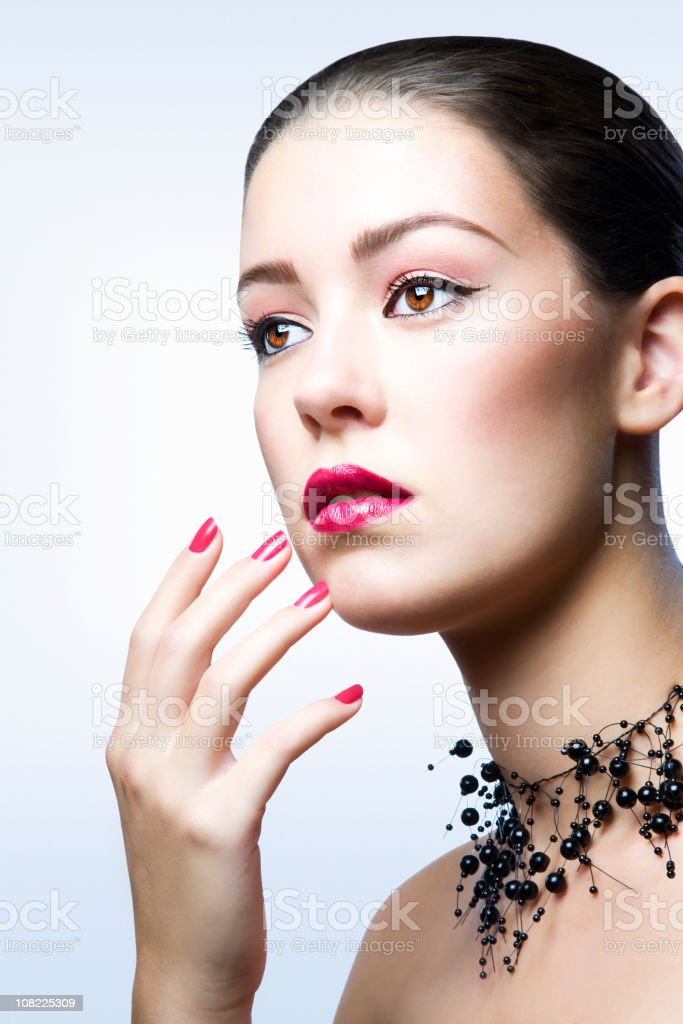 Beauty with necklace royalty-free stock photo