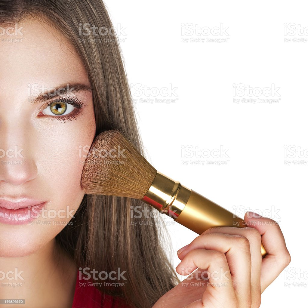 Beauty with perfect natural makeup look royalty-free stock photo
