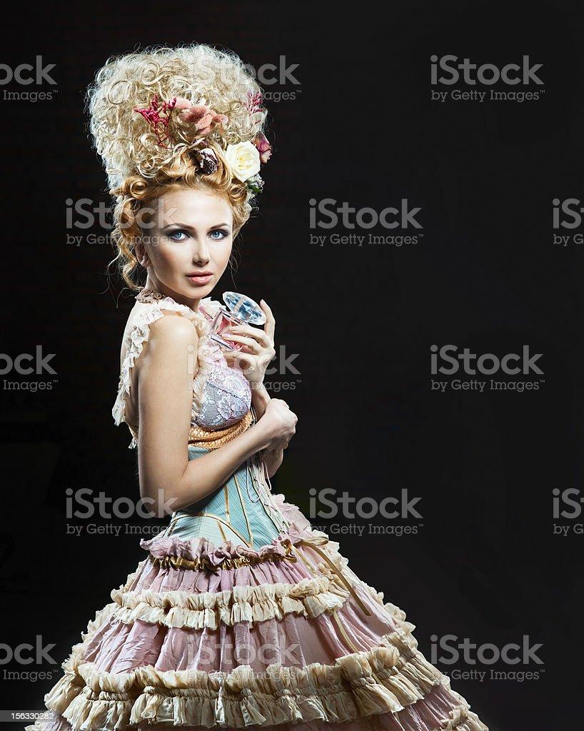 Beauty with perfume stock photo