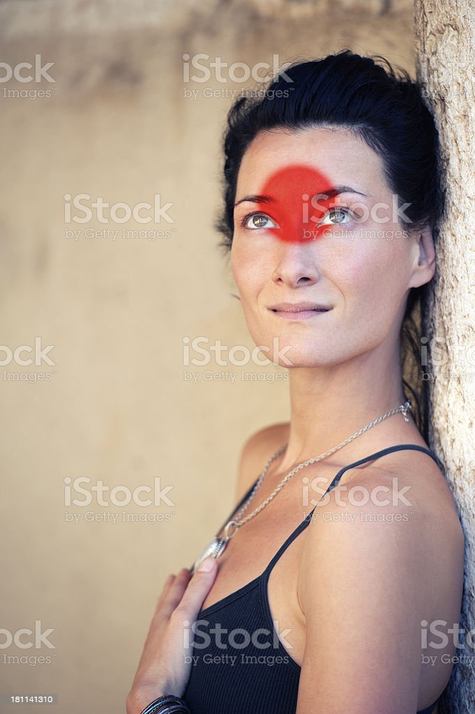 Beauty with Red Circle royalty-free stock photo