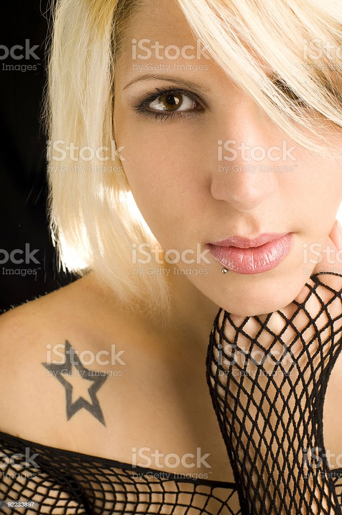 Beauty With Tattoo royalty-free stock photo