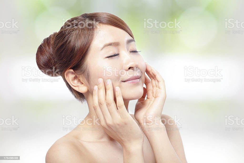Beauty woman Face royalty-free stock photo