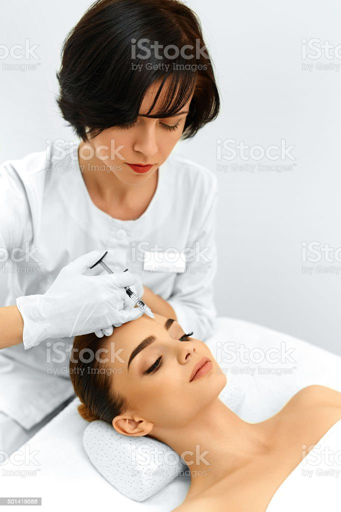 Beauty Woman Face. Plastic Surgery. Cosmetic Anti-aging Injectio stock photo