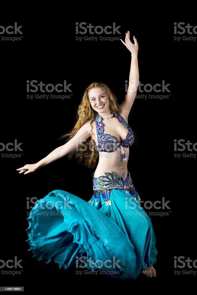 Beauty woman in dance stock photo