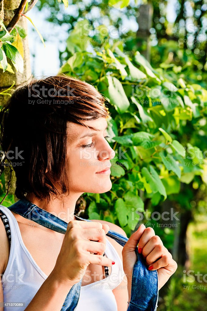 Beauty Woman in Nature. royalty-free stock photo