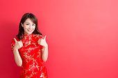 beauty woman wear cheongsam