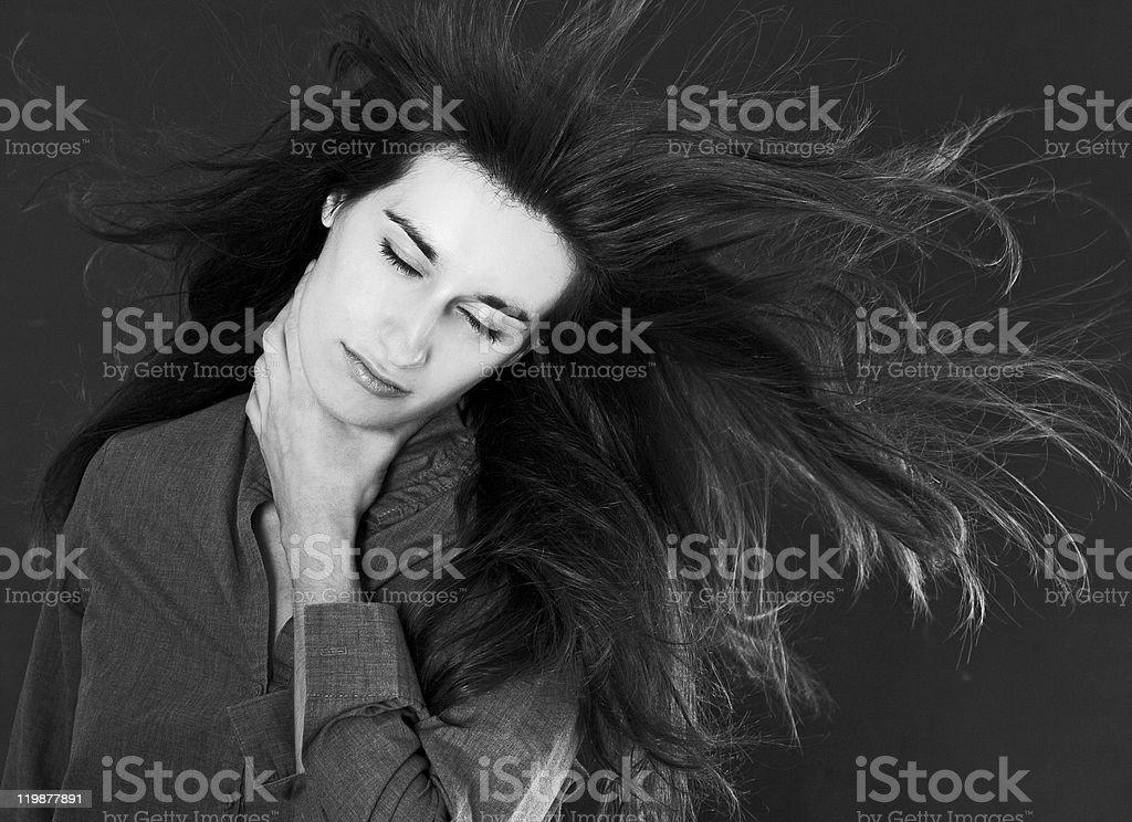 Mujer de belleza con Photoshop de lujo foto de stock libre de derechos