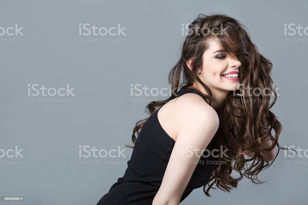 Beauty women portrait. stock photo