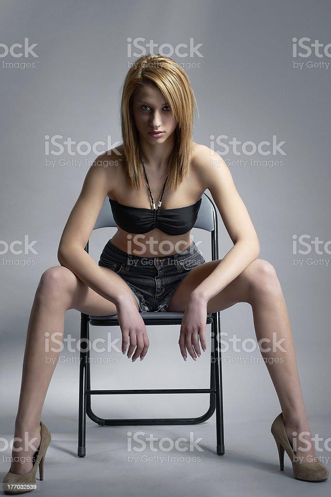 Beauty young model girl stock photo