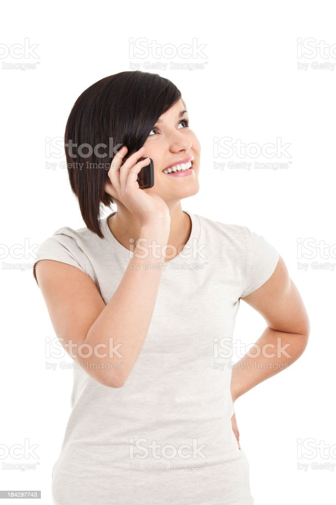 beauty young woman on the phone royalty-free stock photo