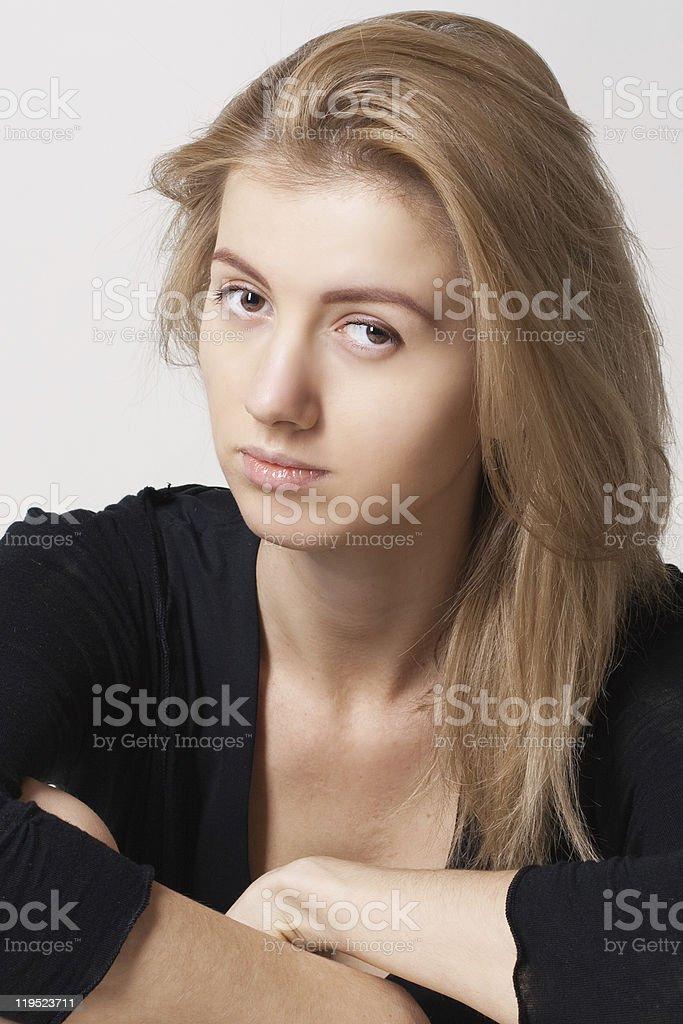 Mujer joven belleza foto de stock libre de derechos