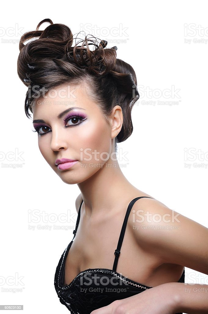 Beauty young woman with style hairstyle royalty-free stock photo