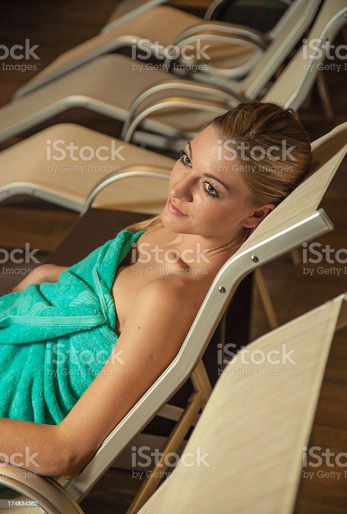 Beautyful girl at SPA center royalty-free stock photo