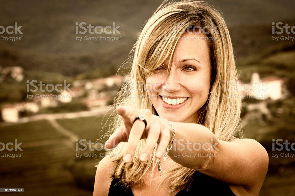 Beautyful girl smiling stock photo