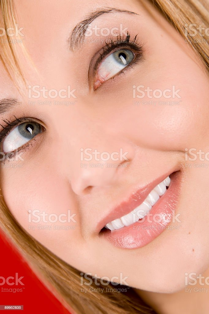 Beauty-Look Away stock photo