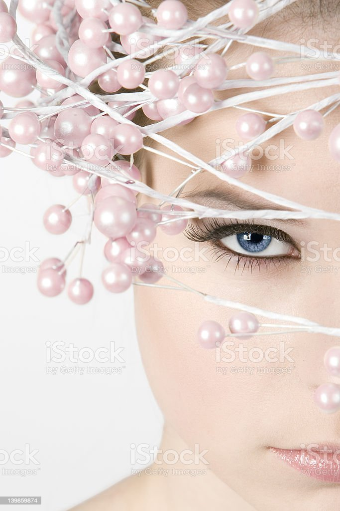 Beautyportrait with nice accessory royalty-free stock photo