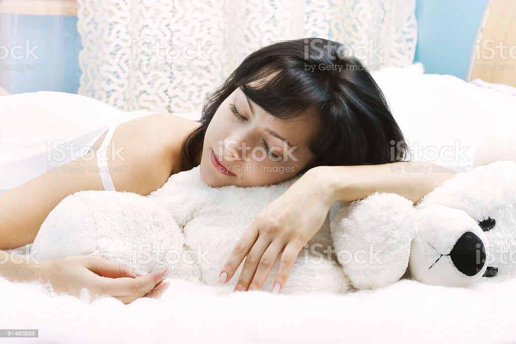 Beauty-sleep royalty-free stock photo