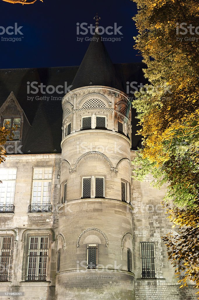 Beauvais (Picardie) by night stock photo