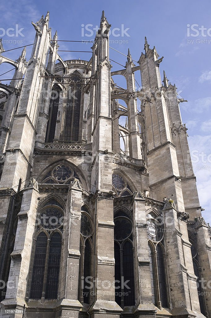 Beauvais (Picardie, France) -Cathedral exterior, in gothic style royalty-free stock photo