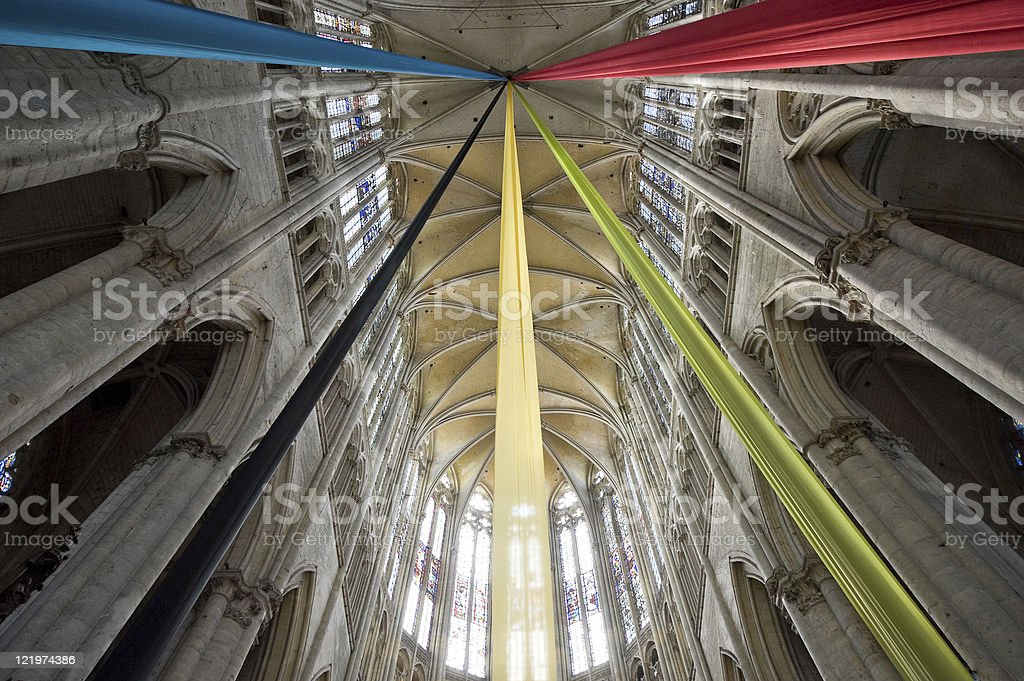Beauvais (Picardie) - Cathedral interior, in gothic style: ceiling royalty-free stock photo