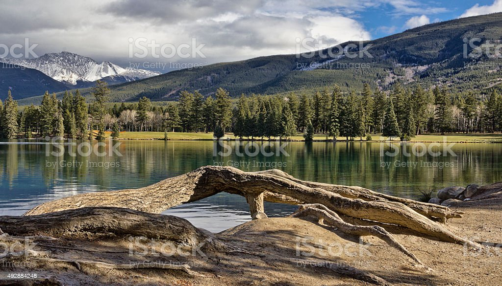 Lac Beauvert stock photo
