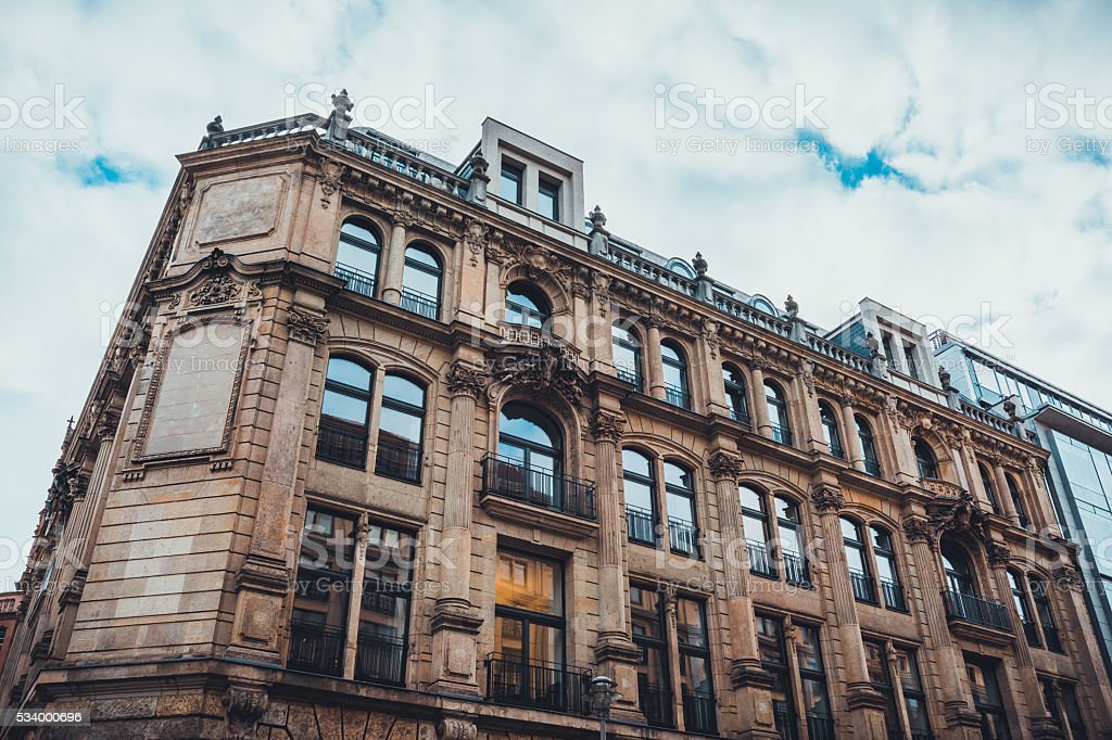 Beaux arts architectural style building in Berlin stock photo