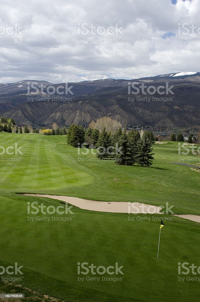 Beaver Creek Golf Course in Spring royalty-free stock photo