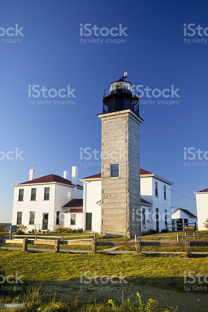 Beavertail lighthouse Cape Cod royalty-free stock photo