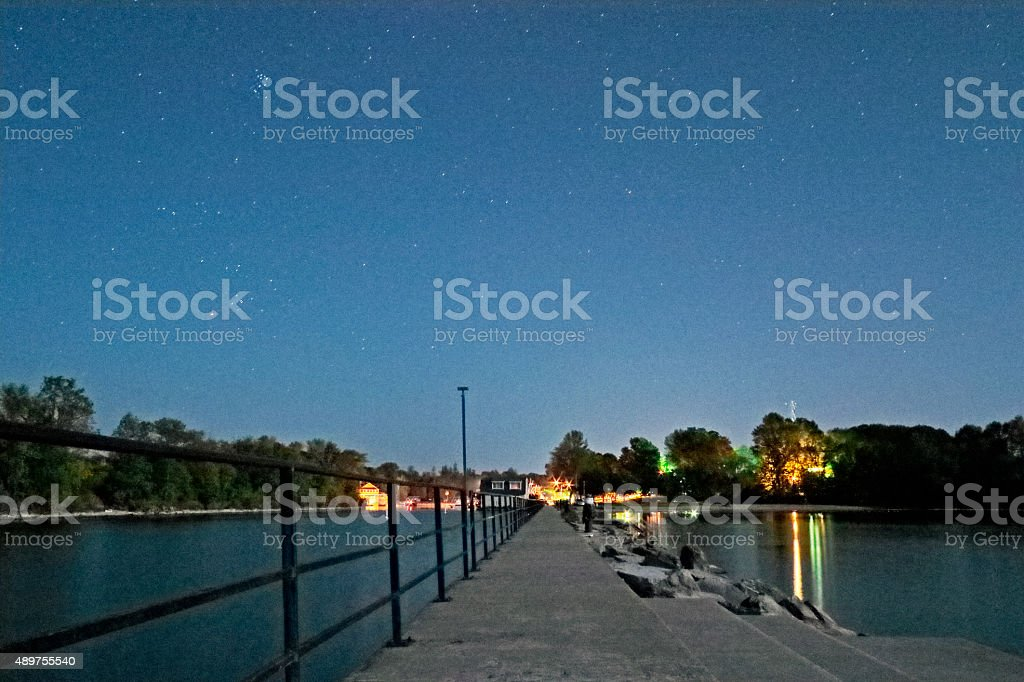 Beaverton Harbour Pier stock photo