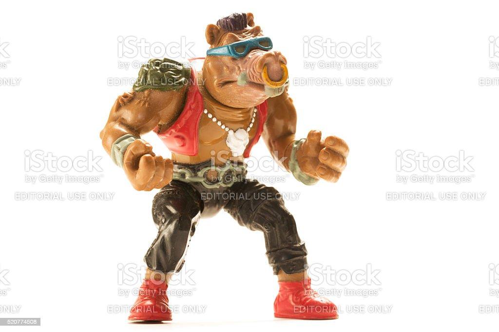 Bebop of the Teenage Mutant Ninja Turtles stock photo