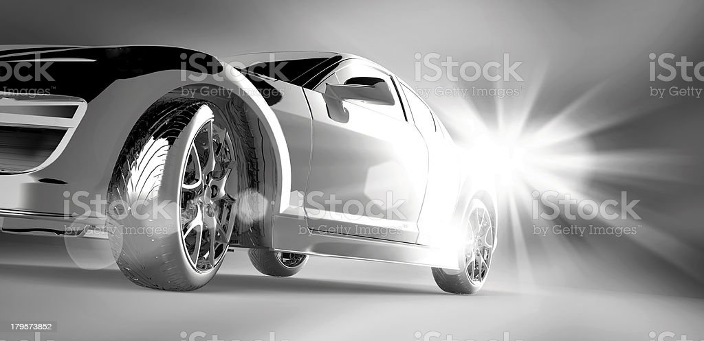 3D car design royalty-free stock photo