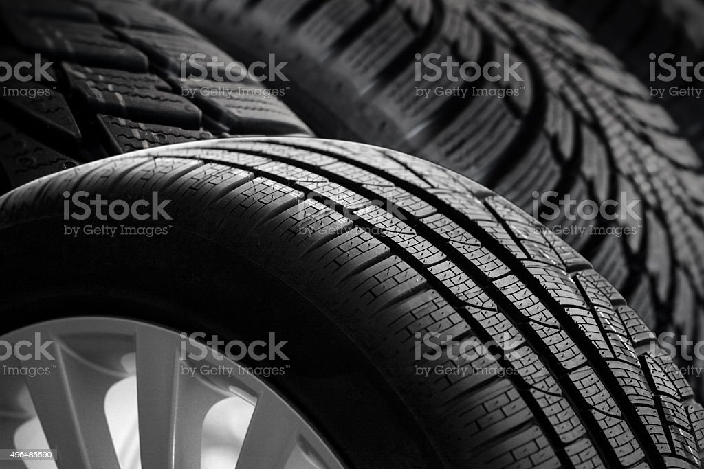 car tire profil stock photo