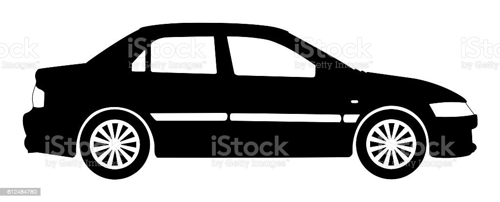 Car silhouette stock photo