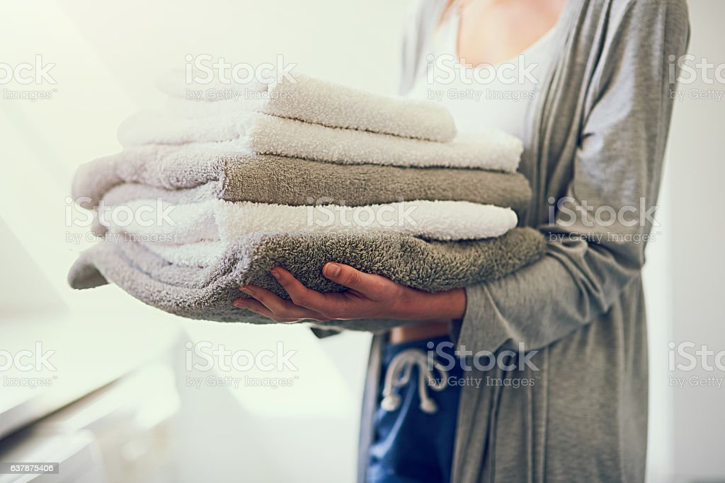 Because you just can't go without clean towels stock photo