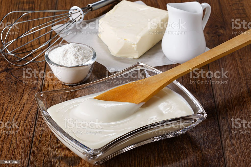 bechamel stock photo