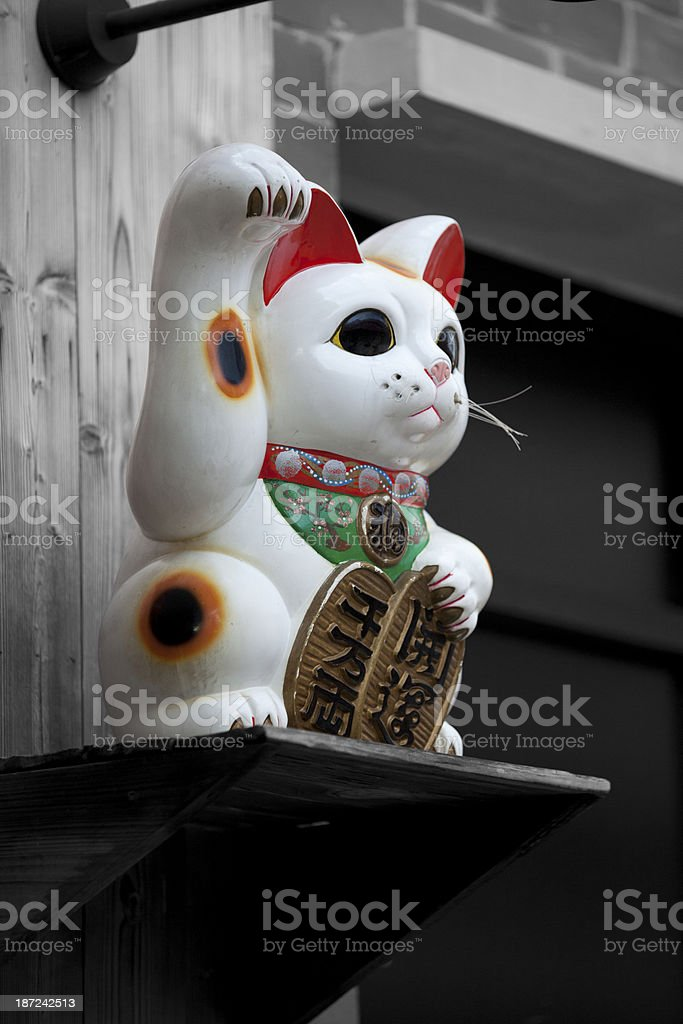 Beckoning cat stock photo