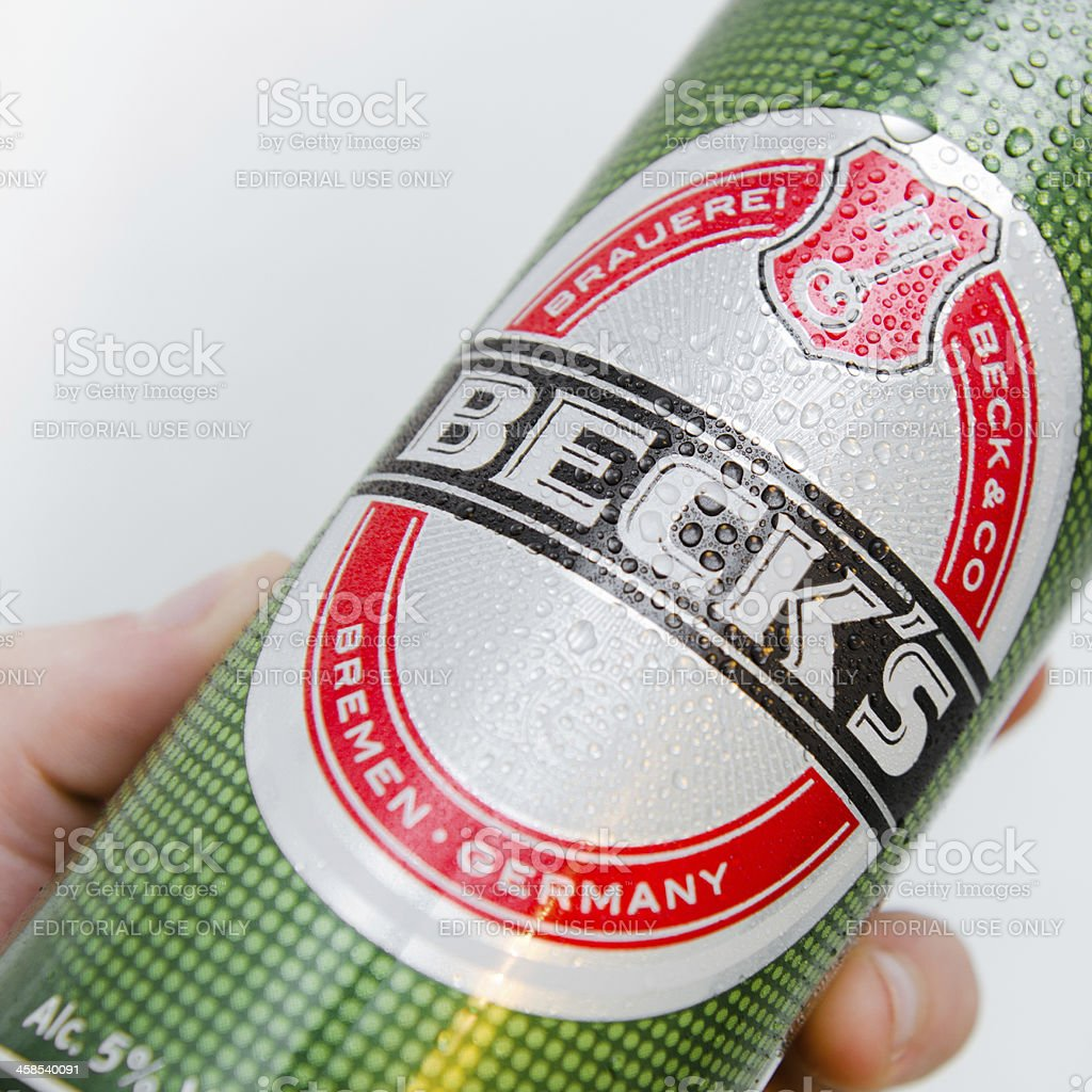 Becks beer Cans stock photo
