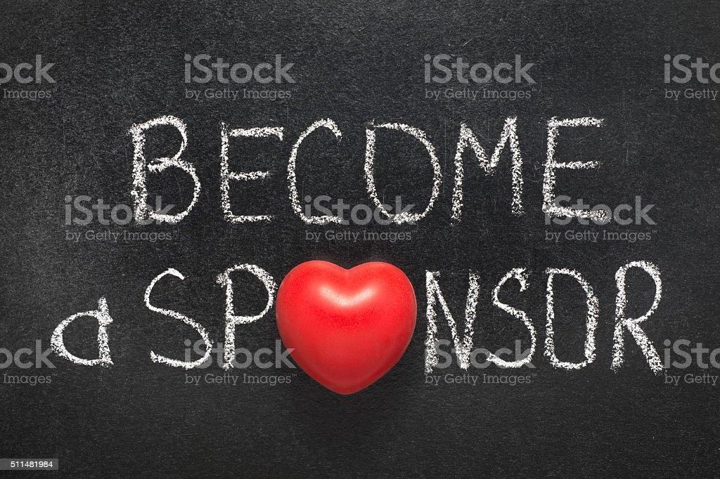 become a sponsor stock photo