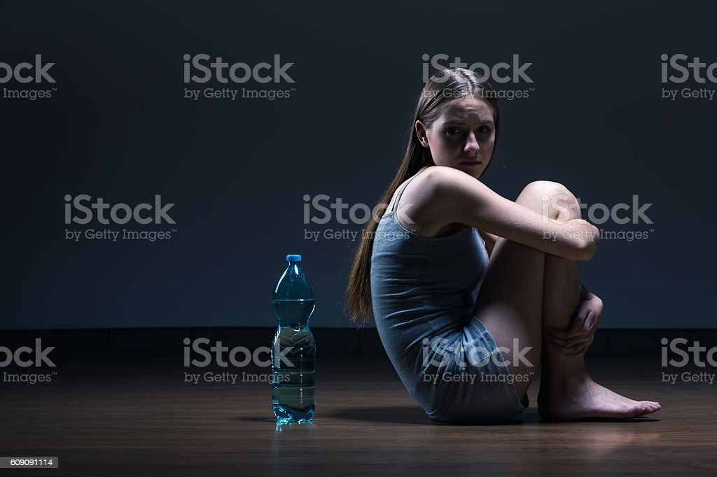 Become ruined by eating disorder stock photo