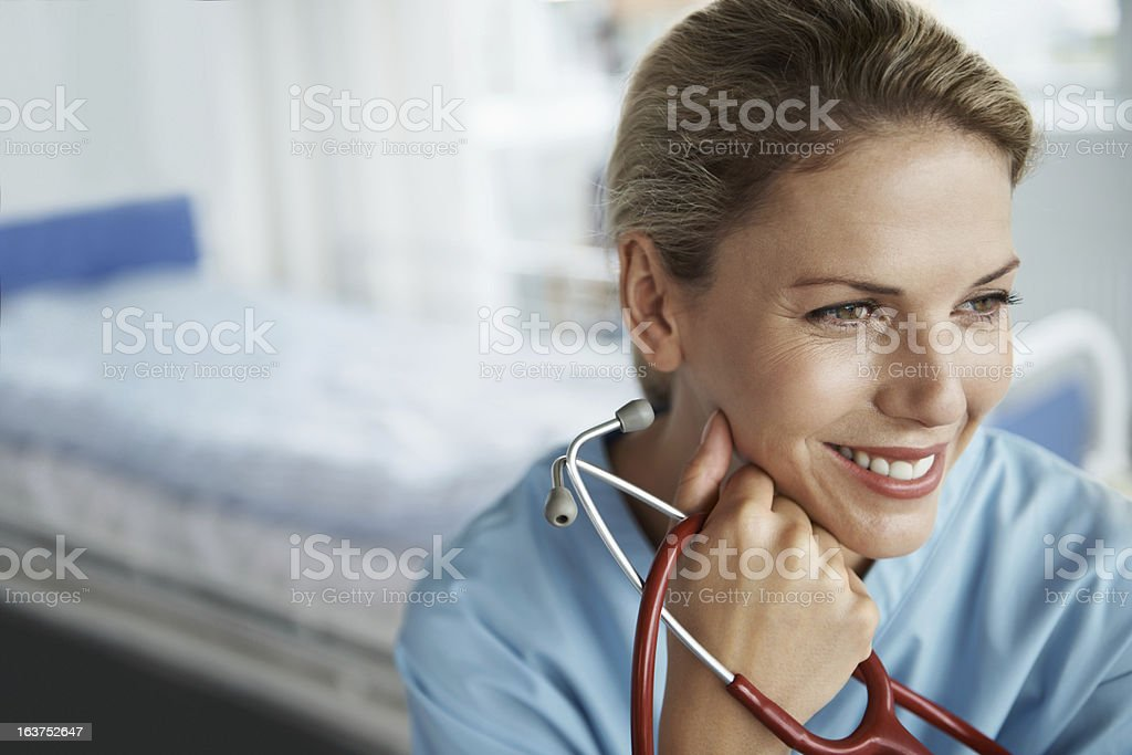 Becoming a doctor will be so wonderful! stock photo