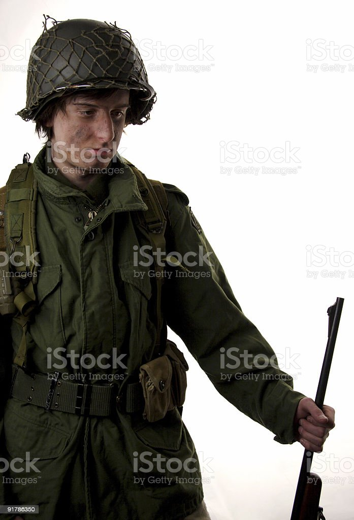 becoming a man teen soldier portrait royalty-free stock photo