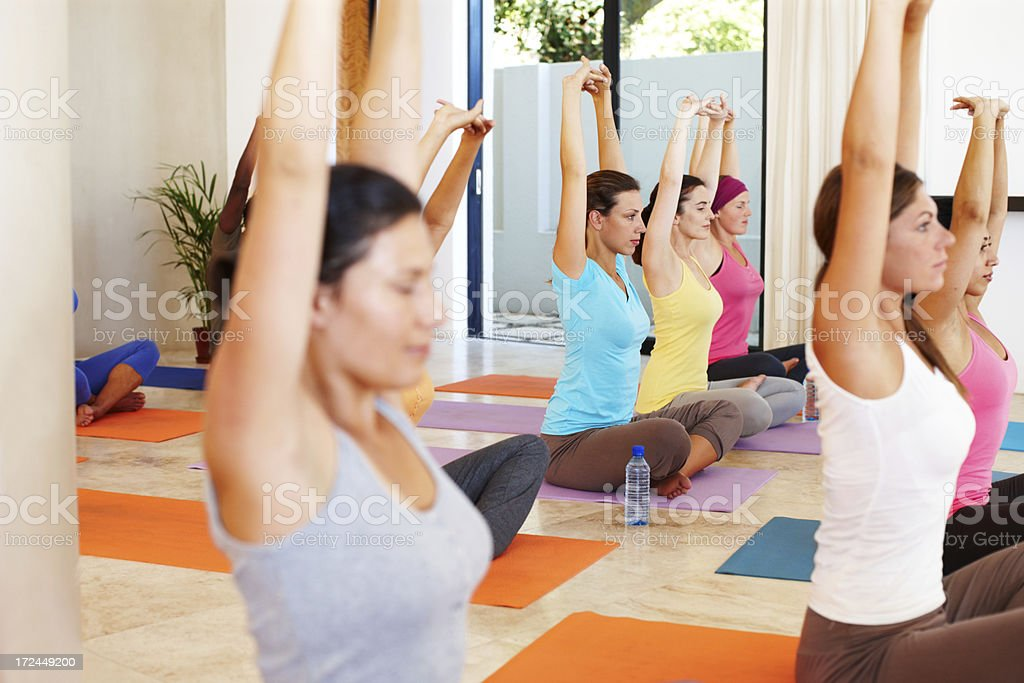 Becoming rooted through yoga royalty-free stock photo