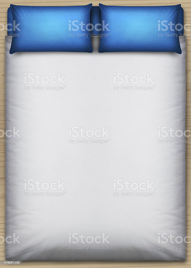 Bed And Bedding Direct Top royalty-free stock photo