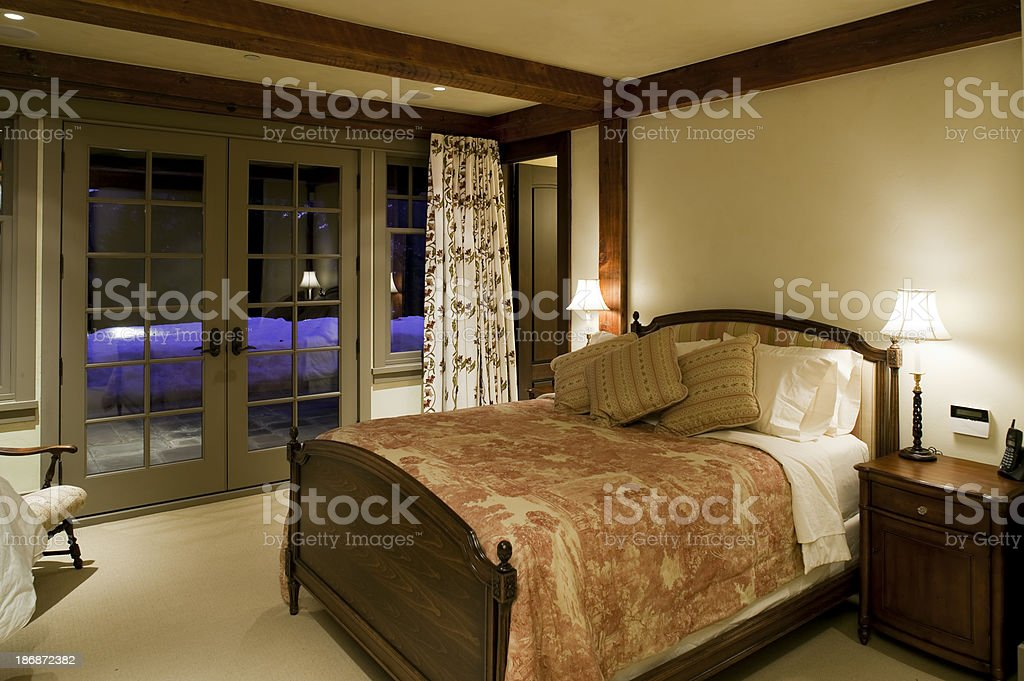 bed and breakfast bedroom stock photo