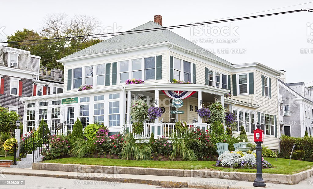 Bed and Breakfast in New England royalty-free stock photo