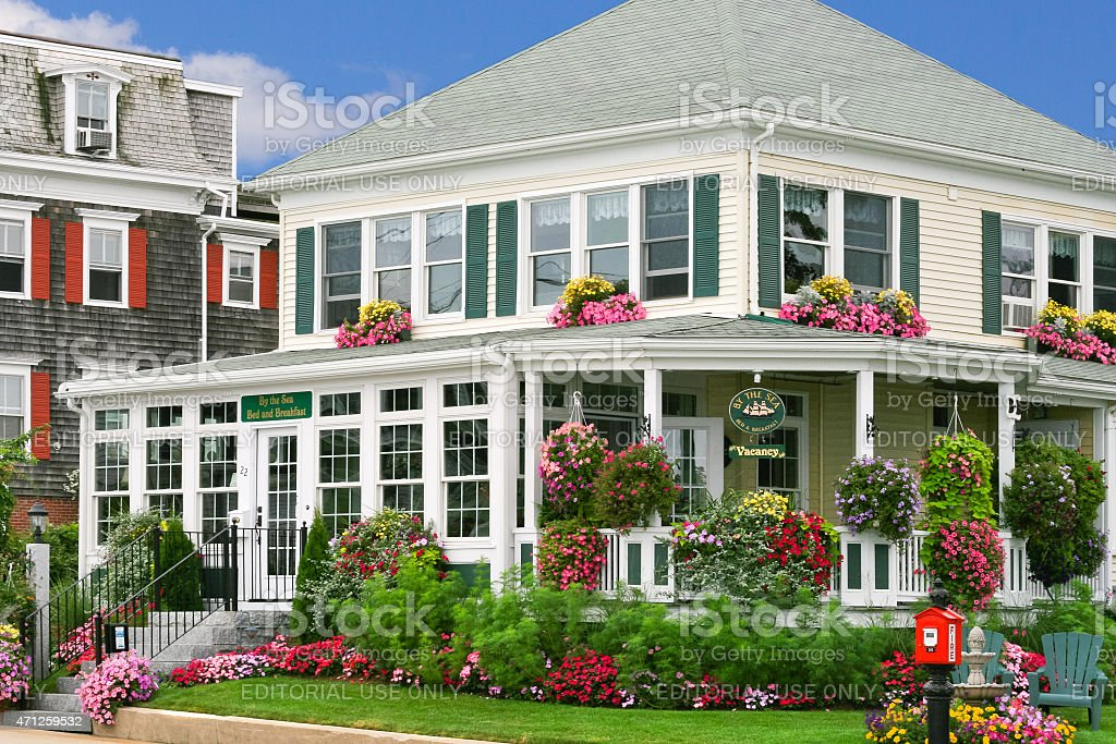 Bed and Breakfast in New England stock photo