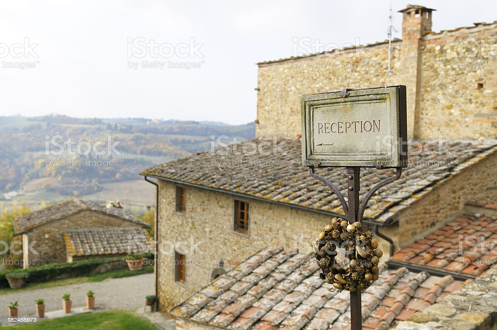 Bed and Breakfast in Tuscany royalty-free stock photo