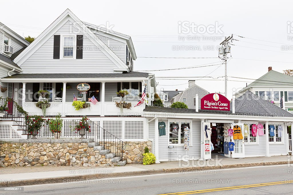 Bed and Breakfast next to Gift Shop in New England royalty-free stock photo